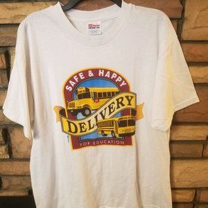 Vintage Shirt LARGE School Bus Driver 1998  J1